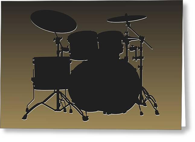 New Orleans Saints Drum Set Greeting Card