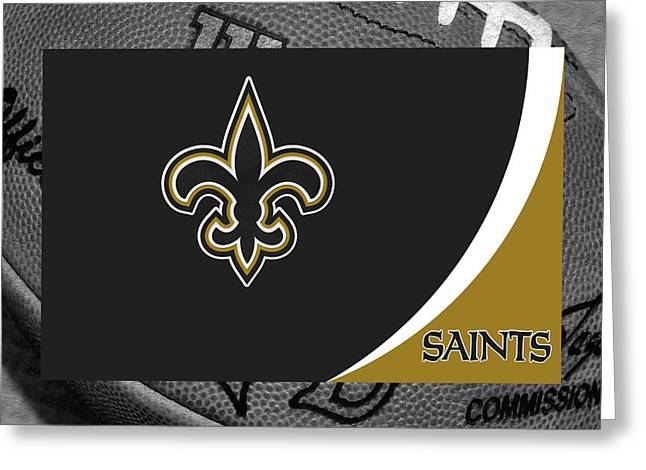 New Orleans Saints Greeting Card by Joe Hamilton