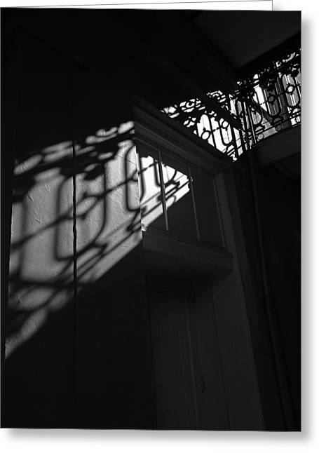 New Orleans Shadowplay Greeting Card