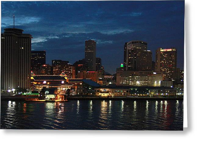 Greeting Card featuring the photograph New Orleans Skyline by Joe Kozlowski