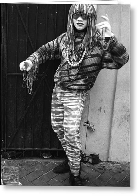 New Orleans Statuary Mime Greeting Card by Michael Whitaker