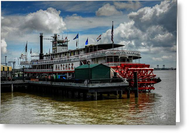 New Orleans - Steamboat Natchez 001 Greeting Card by Lance Vaughn