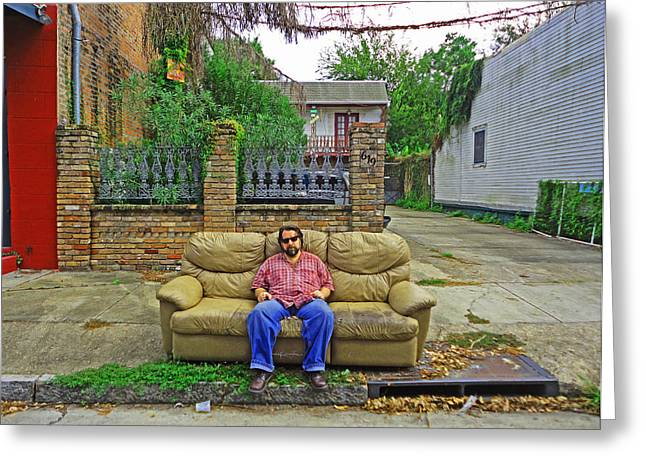 New Orleans Street Couch Greeting Card