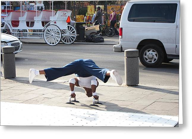 New Orleans - Street Performers - 121210 Greeting Card