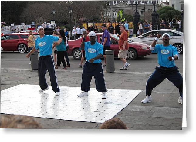 New Orleans - Street Performers - 121220 Greeting Card