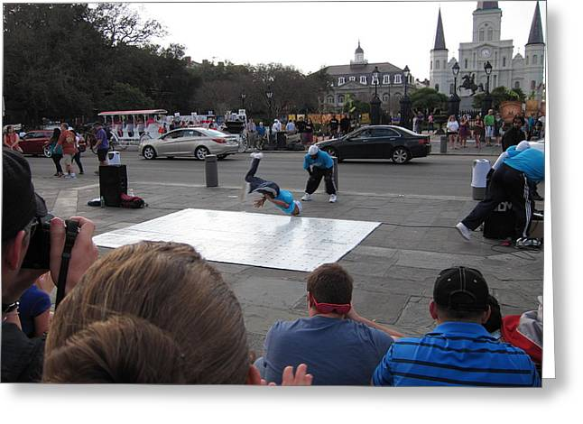 New Orleans - Street Performers - 121221 Greeting Card