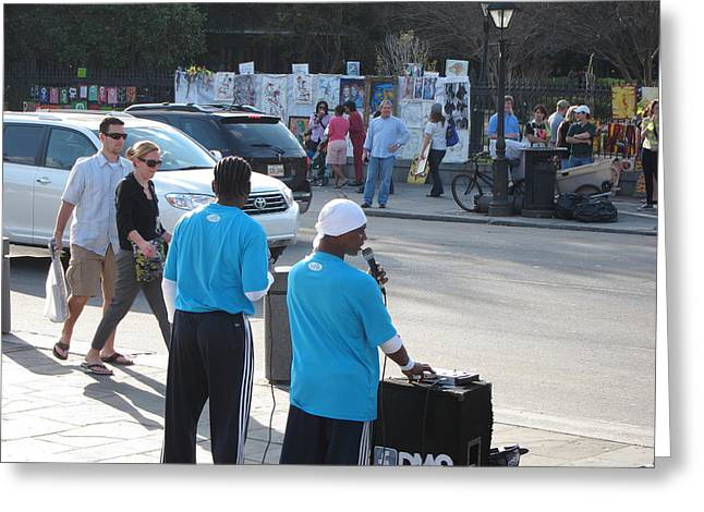 New Orleans - Street Performers - 12124 Greeting Card by DC Photographer