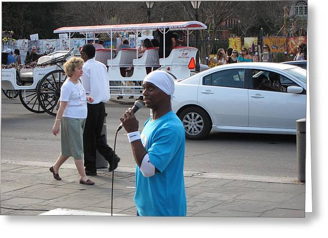 New Orleans - Street Performers - 12126 Greeting Card by DC Photographer