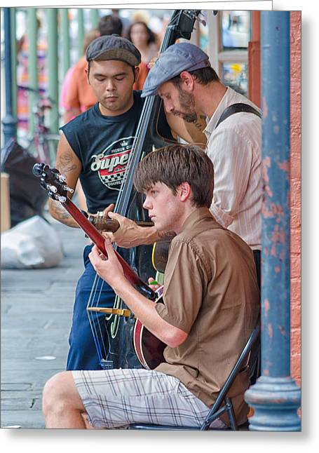 New Orleans Street Trio Greeting Card