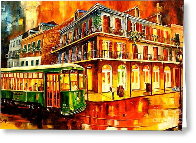 New Orleans Streetcar Greeting Card by Diane Millsap