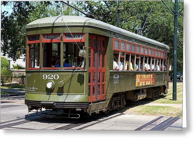 New Orleans Streetcar Greeting Card by Photostock-israel