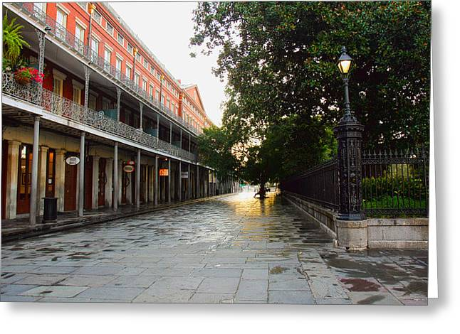 New Orleans Streets Greeting Card by Ryan Burton