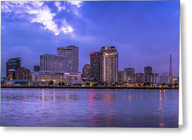 New Orleans Sunset Greeting Card by David Morefield