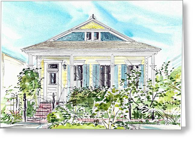 New Orleans Victorian Greeting Card