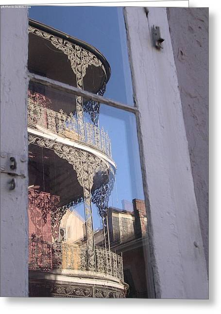 New Orleans Window Greeting Card