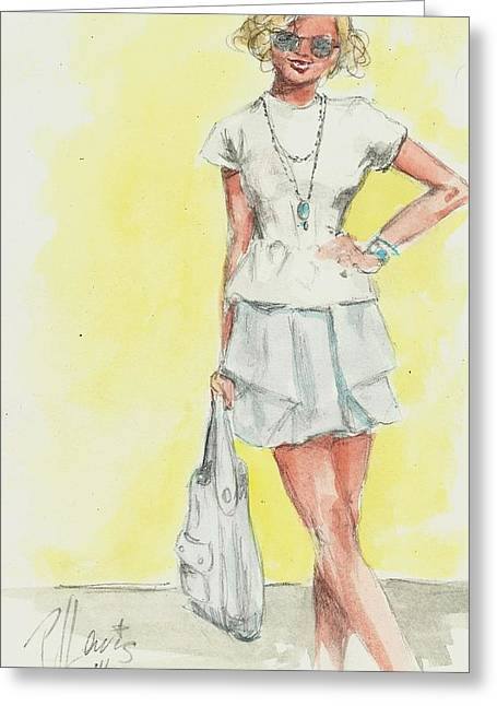 New Outfit Greeting Card by P J Lewis