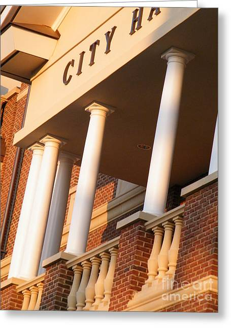 New Perspective On City Hall Greeting Card by Cheryl Hardt Art