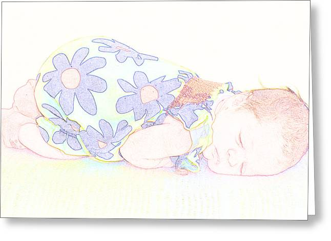 New Photographic Art Print For Sale Baby Girl Greeting Card