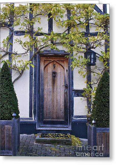 New Photographic Art Print For Sale Doorway 2 In Medieval Lavenham Greeting Card