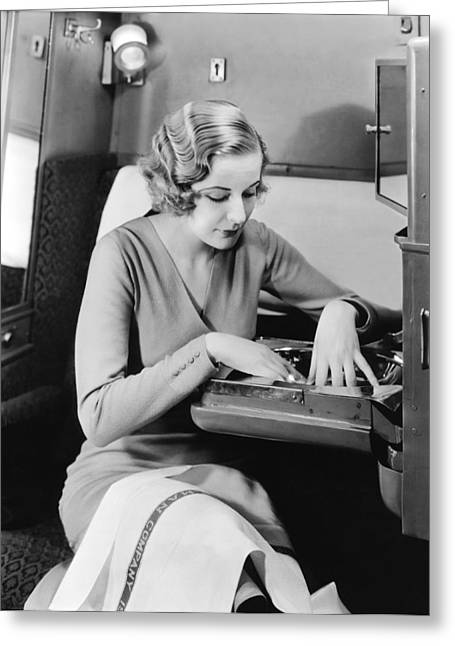 New Pullman Car Interiors Greeting Card by Underwood Archives