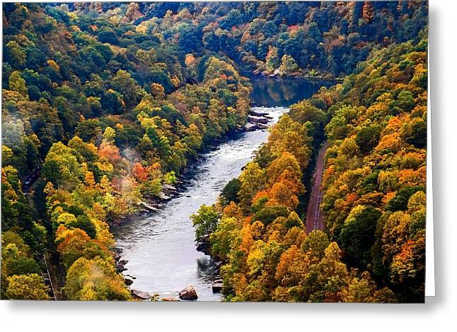 New River Gorge Greeting Card by B Wayne Mullins
