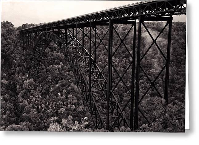 New River Gorge Bridge  Greeting Card by Chris Flees