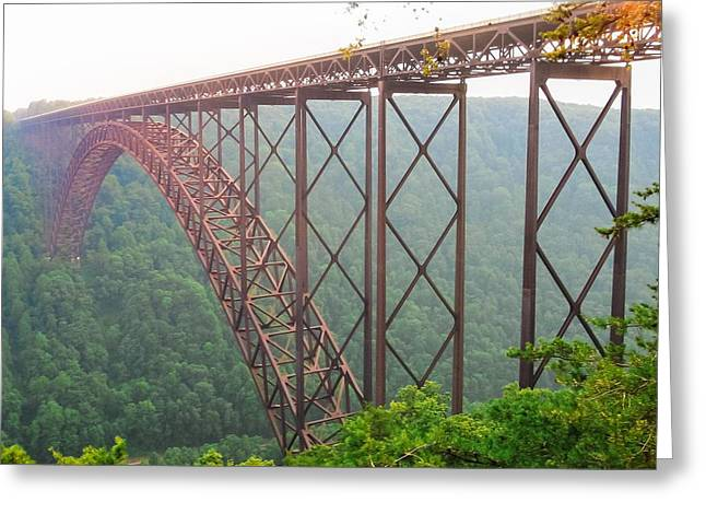 New River Gorge Bridge   Greeting Card by Lars Lentz