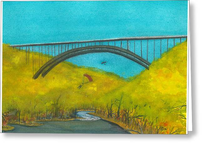 New River Gorge Bridge On Bridge Day Greeting Card