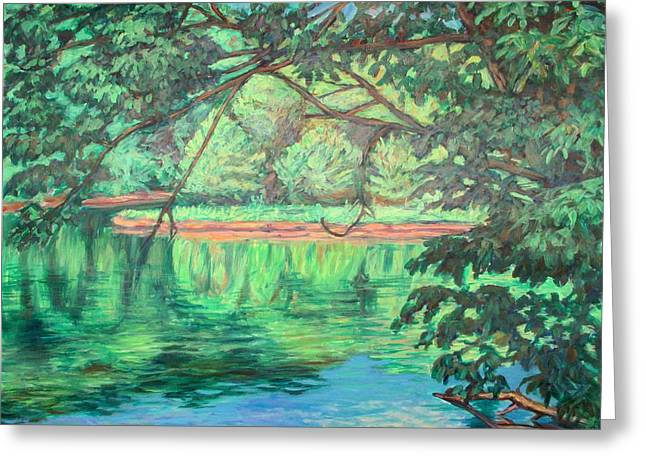 New River Reflections Greeting Card by Kendall Kessler