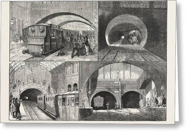New Route To Brighton, Via The East London Railway Greeting Card by English School