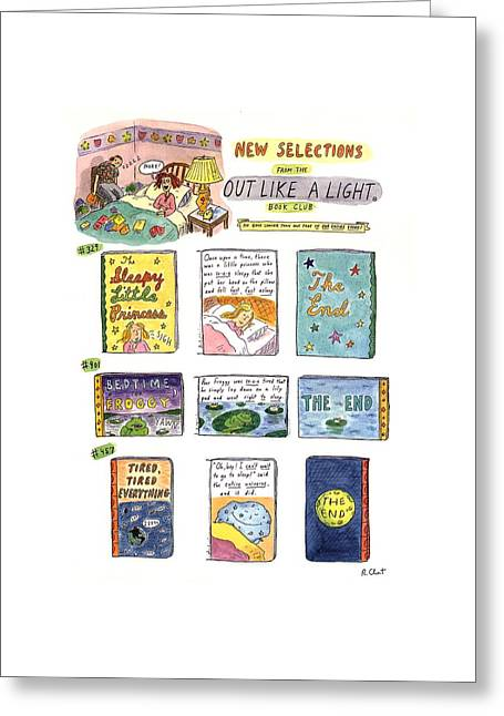 New Selections From The Out Like A Light� Book Greeting Card by Roz Chast