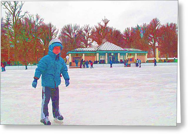 New Skates Greeting Card by Barbara McDevitt