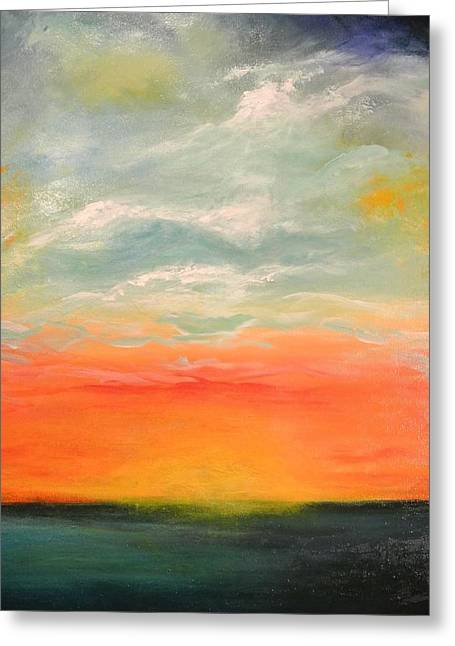 Greeting Card featuring the painting New Sky 2013 by Tamara Bettencourt