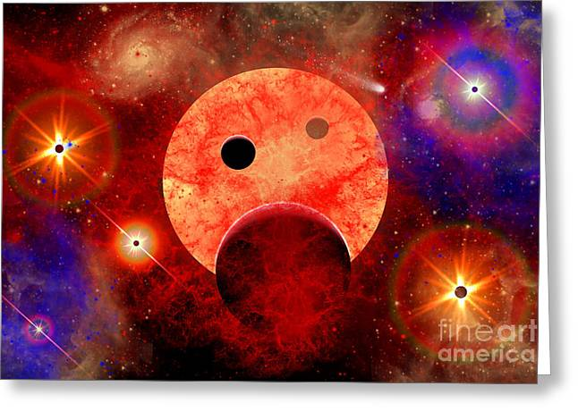 New Star Formation In A Vast Gaseous Greeting Card