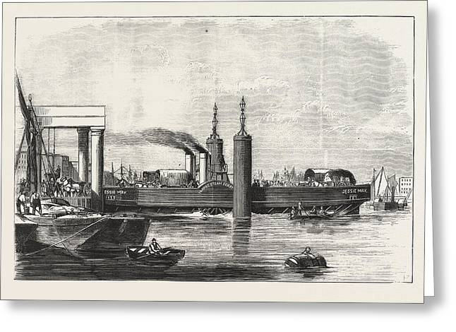New Steam Ferry-boat For The Thames, The Jessie May Greeting Card by English School