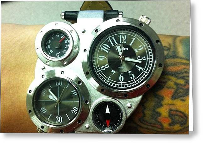 New #steampunk Watch Has Arrived! Greeting Card by Brian Lapsley