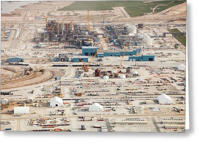 New Tar Sands Plant Being Constructed Greeting Card by Ashley Cooper