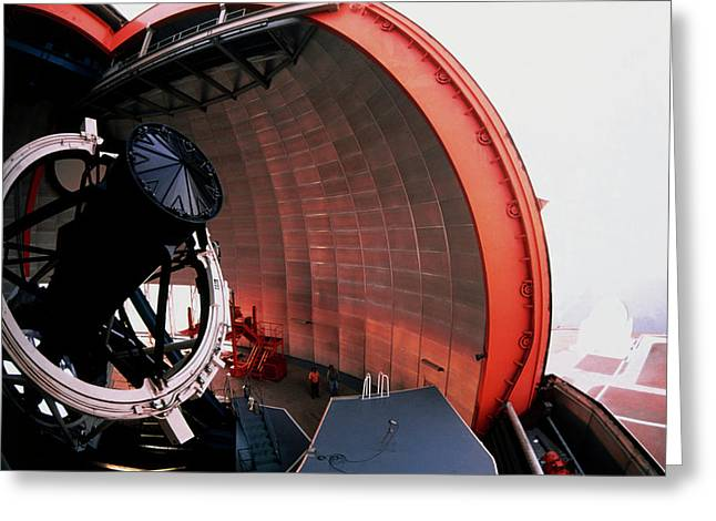 New Technology Telescope At La Silla Greeting Card by David Parker/science Photo Library