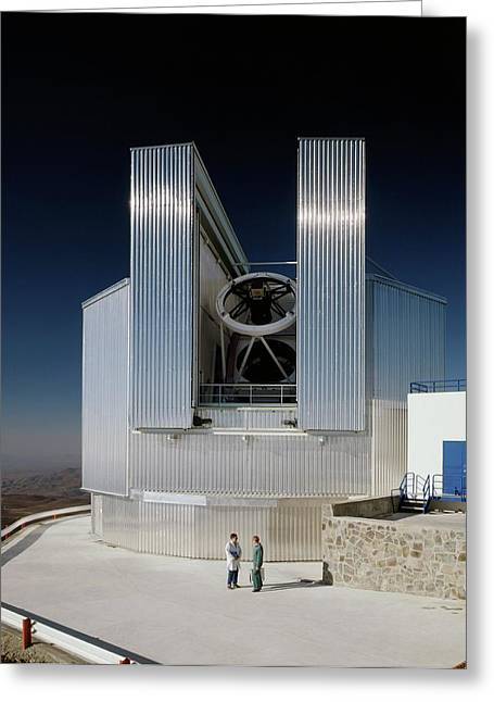 New Technology Telescope Greeting Card by Eso/c. Madsen