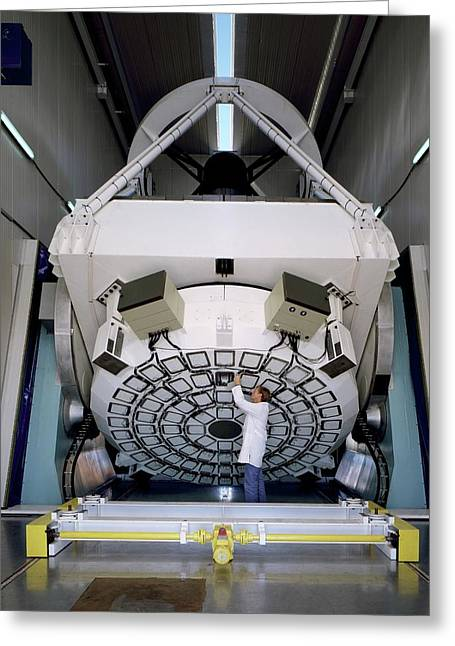 New Technology Telescope Greeting Card by Eso/c.madsen
