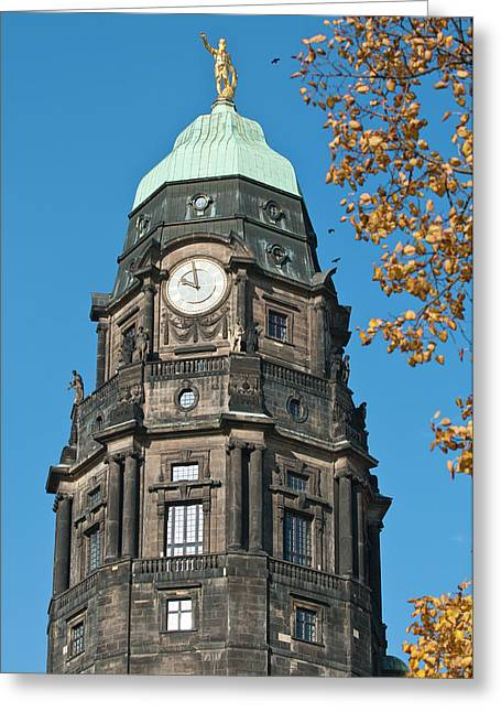 New Town Hall In Dresden, Germany Greeting Card by Michael Defreitas