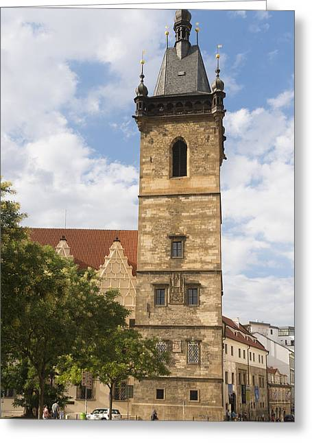 New Town Hall Novomestska Radnice Prague Greeting Card