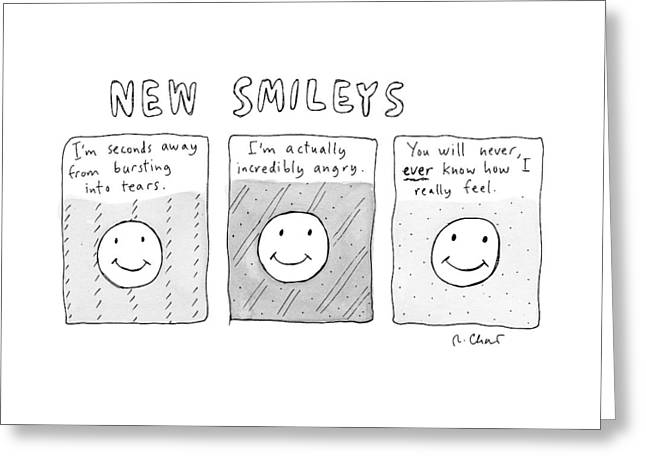 New Versions Of The Stick Figure Smiley's Greeting Card