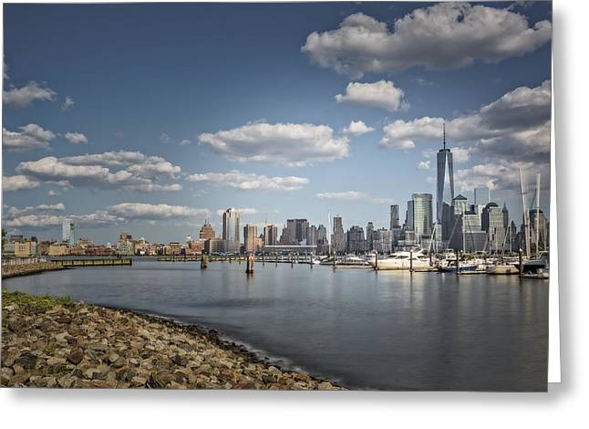 New World Trade Center Greeting Card by Susan Candelario