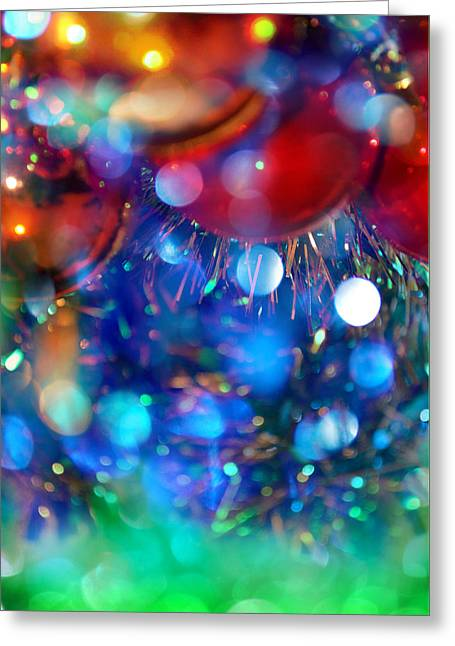 New Year And Xmas Background Greeting Card by Irina Effa