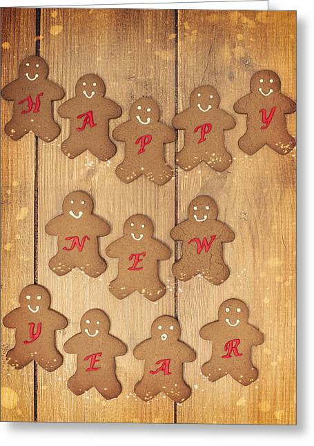 New Year Gingerbread Greeting Card