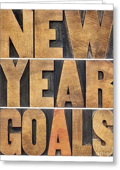 New Year Goals Greeting Card