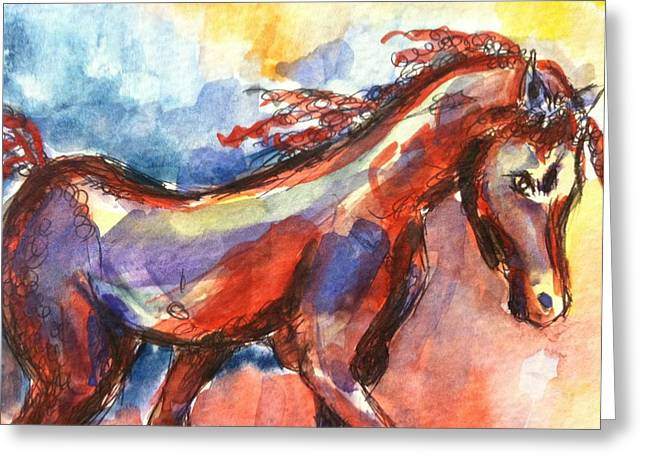 New Year Horse Greeting Card