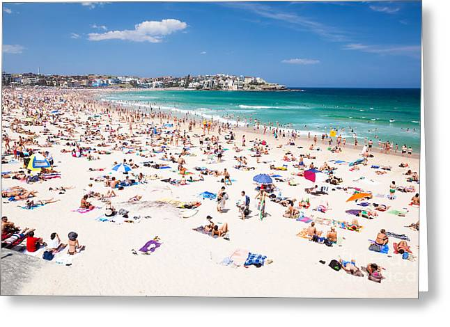 New Year's Day At Bondi Beach Sydney Australi Greeting Card by Matteo Colombo