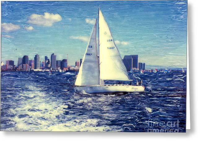 New Years Day Sailing Greeting Card